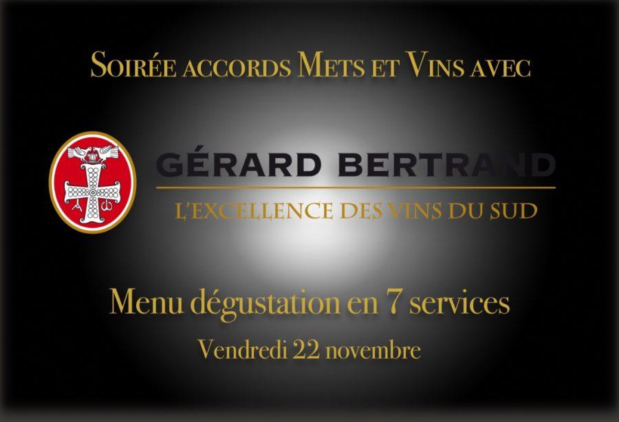 Soirée mets et vins Gérard Bertrand